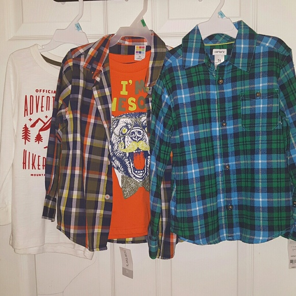 Carter's Other - NWT Boys Lot 3 Long Sleeve Shirts